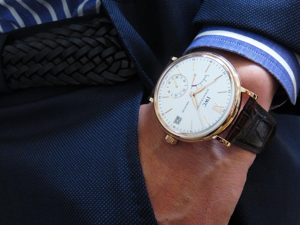 金無垢時計を身に着けてみませんか?IWC ポートフィノ・ハンドワインド・エイトデイズ IW510107-IWC -IMG_5596