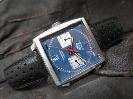 角型時計の傑作! タグ・ホイヤー「モナコ キャリバー11 クロノグラフ」CAW211P.FC6356