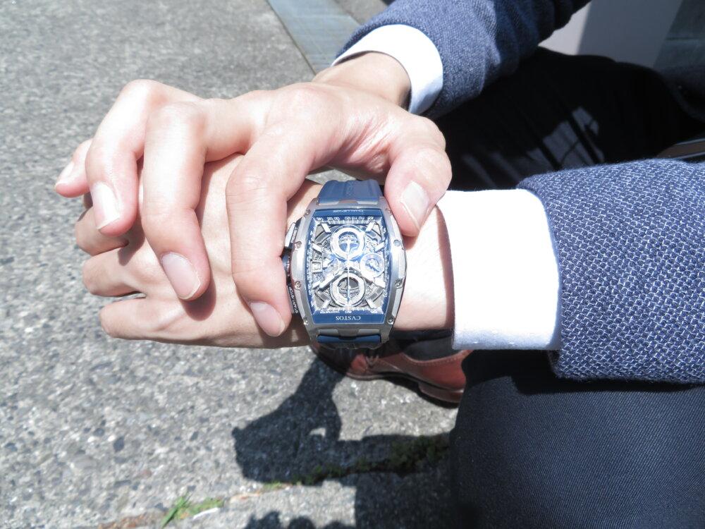 CVSTOS(クストス) スケルトン×ブルーラバーで日常を格上げする時計「チャレンジ クロノⅡ」!!-CVSTOS -IMG_0690