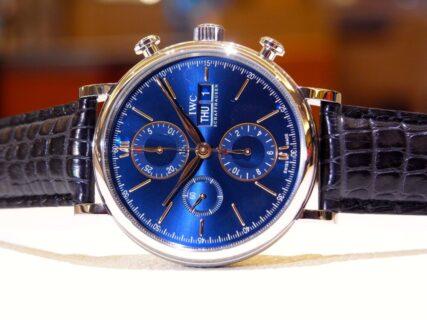 """IWCの中で、時代に左右されないクラシカルな腕時計""""ポートフィノ・クロノグラフ=IW391036 """""""
