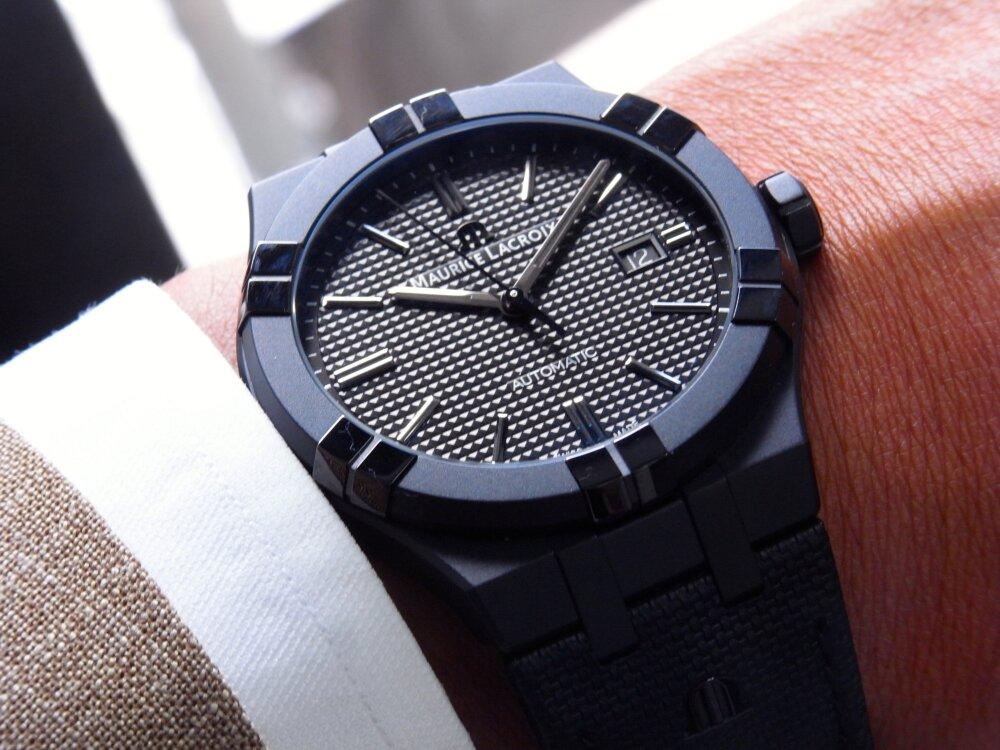 シリーズ初のオールブラックモデルが かっこいい!「アイコン ブラック」-MAURICE LACROIX -R1172635