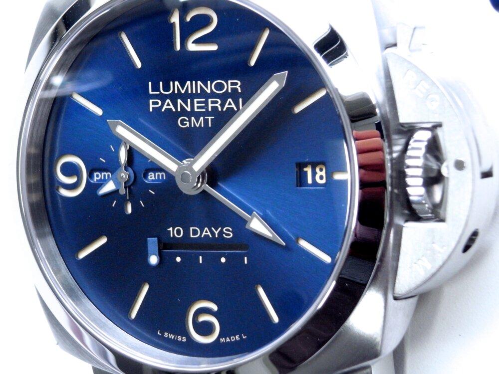 パネライ ブルー文字盤 を採用した10日間の パワーリザーブが実現した ルミノール GMT 10デイズ PAM00986-PANERAI -R1172981