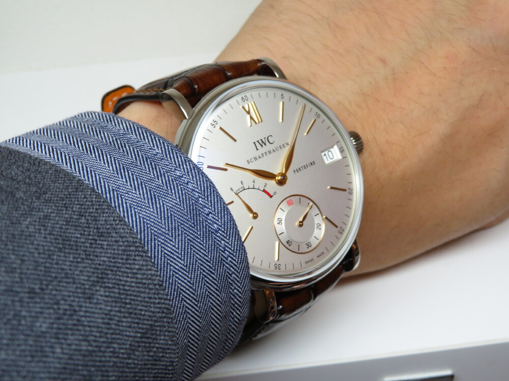 IWCクラシカルなデザイン、古典的な手巻きの時計はいかがですか「ポートフィノ・ハンドワインド・エイトデイズ」!-IWC -IMG_1478