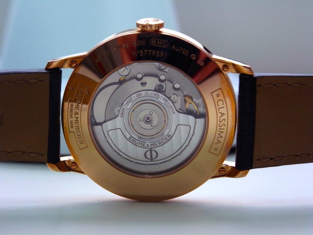 ボール&メルシエ 大人のレッドゴールドケースを採用!シンプルで正統派のデザイン 「クラシマオートマティック」-BAUME&MERCIER -R1173026