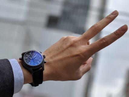 IWC 2019年新作!エリートに贈るマットブラックで上品な機械式時計!!パイロット・ウォッチ・ダブルクロノグラフ・トップガン・セラタニウム