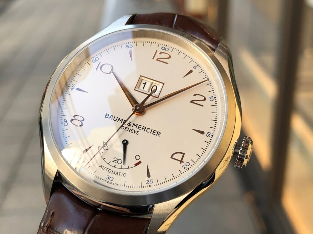 この秋着けたいおとな時計。ボーム&メルシエから「クリフトン ビッグデイト パワーリザーブ」をご紹介。-BAUME&MERCIER -2-1