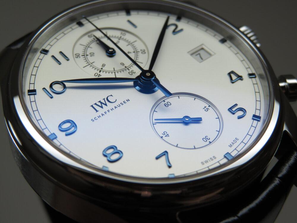 IWC ブルーが際立つ、気品あふれるクラシカルウォッチ!「ポルトギーゼ・クロノグラフ・クラシック」-IWC -IMG_1694