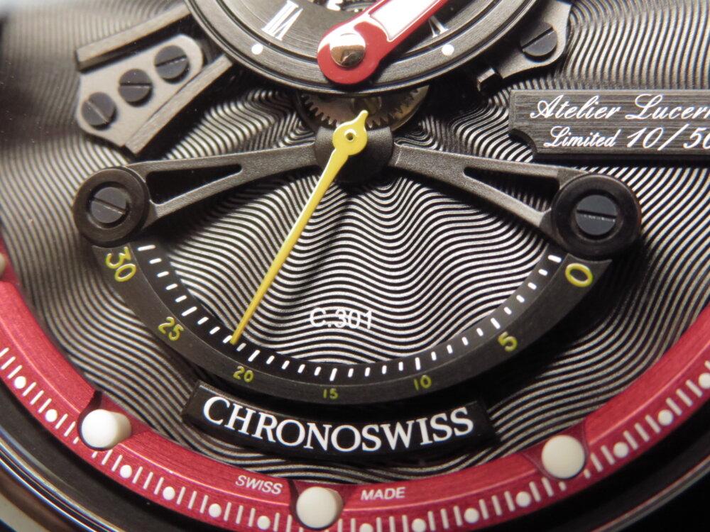 クロノスイスでモダンを纏う! 「フライング・レギュレーター オープンギア レ・セック」CH-6925-BKRE-CHRONOSWISS -IMG_1850