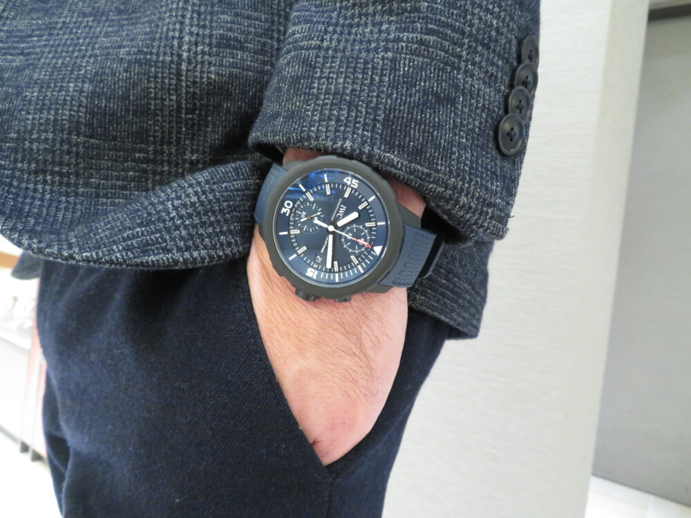 特別なブルー文字盤?腕時計の購入が恵まれない子供たちへの支援に繋がる、IWCアクアタイマーローレウス限定モデル-IWC その他 -IMG_2008
