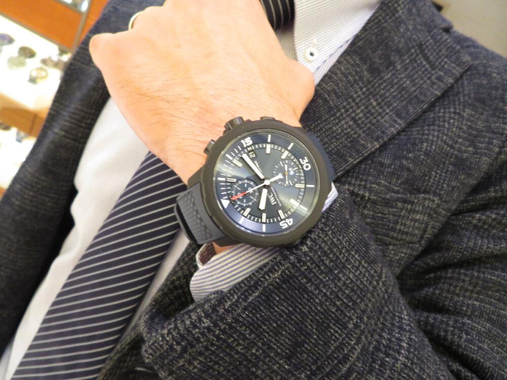 特別なブルー文字盤?腕時計の購入が恵まれない子供たちへの支援に繋がる、IWCアクアタイマーローレウス限定モデル-IWC その他 -IMG_2010