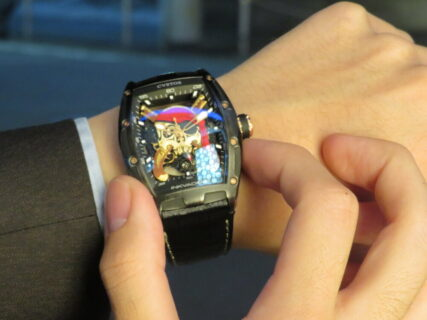 CVSTOS(クストス)海賊の機械式時計!!チャレンジ ジェットライナーⅡ インクベーダーススカル パイレーツ!!