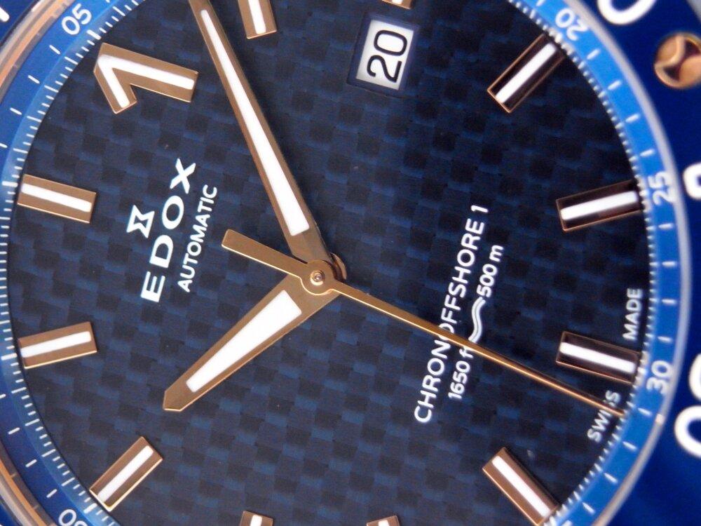 シンプルな3針のクロノオフショア1 プロフェッショナル 〜 EDOX エドックス〜-EDOX -R1173591