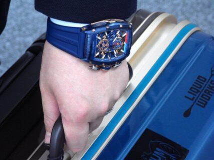 ウィンターフェア開催中!爽やかなブルーと高級感あるゴールドの組み合わせがカッコイイ!CVSTOS(クストス) チャレンジ シーライナー クロノレガッタ!!
