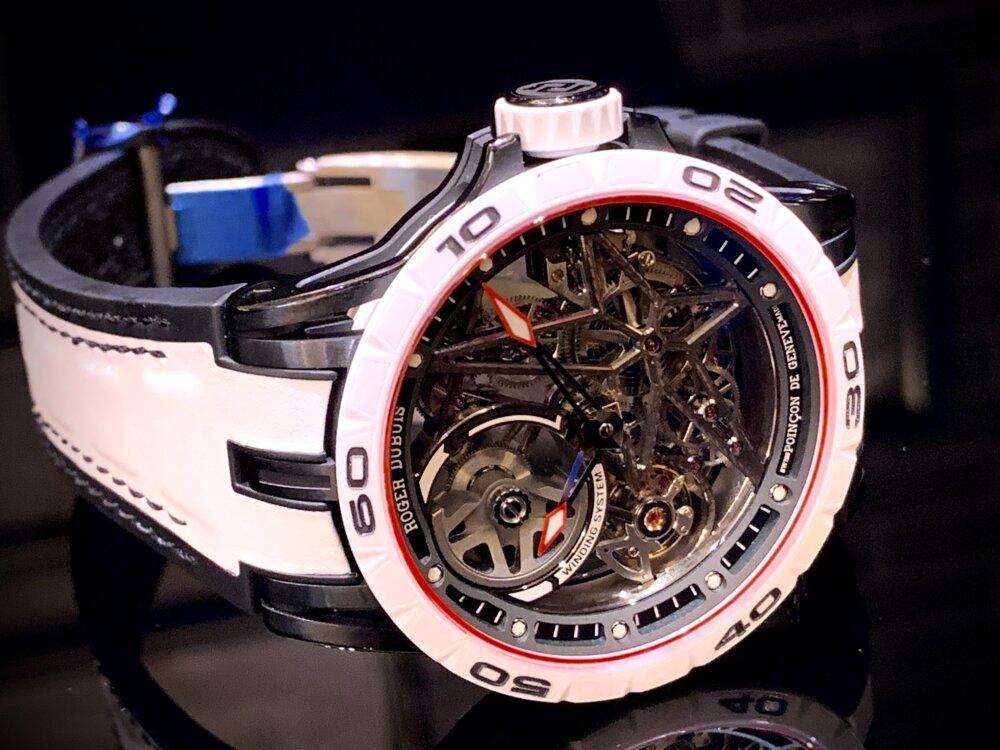 わずか28本と希少な日本限定モデルをその腕に......『エクスカリバー スパイダー オートマティックスケルトン ジャパンリミテッド』~ロジェ・デュブイ~-ROGER DUBUIS -IMG_1765