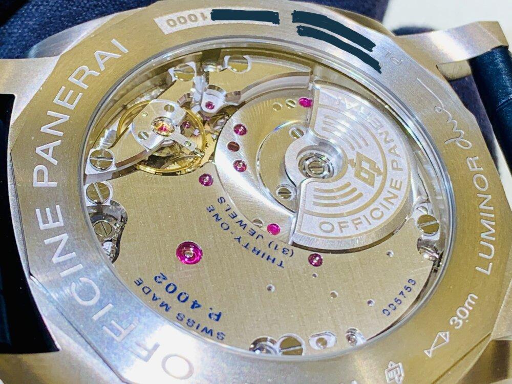 薄型モデルのルミノール・ドゥエも素晴らしい♪ルミノール・ドゥエ GMT パワーリザーブ PAM00964~パネライ~-PANERAI -IMG_1838
