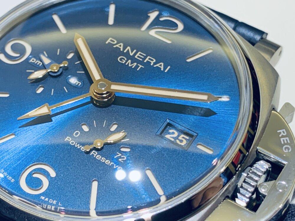 薄型モデルのルミノール・ドゥエも素晴らしい♪ルミノール・ドゥエ GMT パワーリザーブ PAM00964~パネライ~-PANERAI -IMG_1845