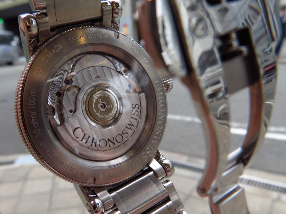 スポーティーなブレスレットタイプ! クロノスイス「レギュレーター クラシック」CH-4023-SI/S0-2-CHRONOSWISS -IMG_2540