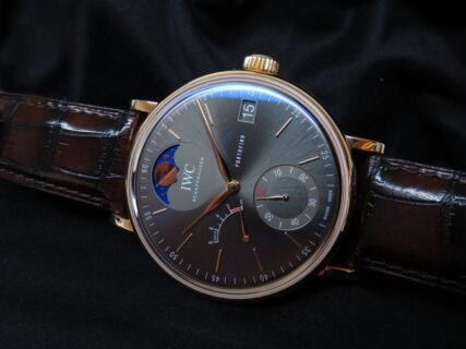 IWC 優雅で繊細な高級機械式時計!シンプルでオシャレなポートフィノ・ハンドワインド・ムーンフェイズ!!