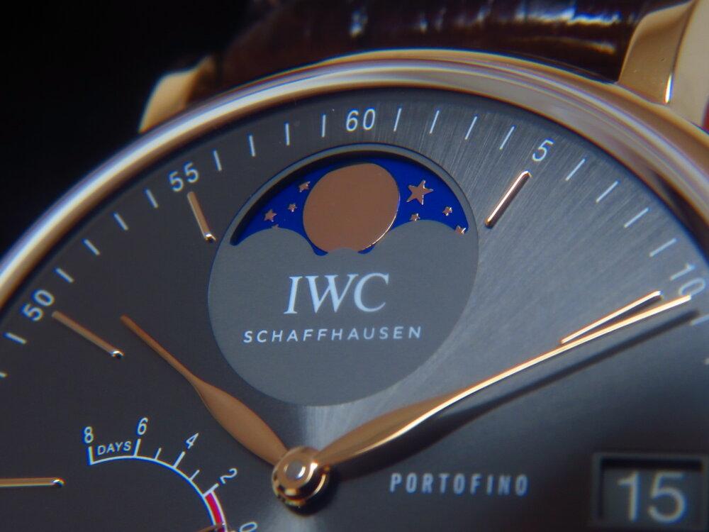 IWC 優雅で繊細な高級機械式時計!シンプルでオシャレなポートフィノ・ハンドワインド・ムーンフェイズ!!-IWC -IMG_2574