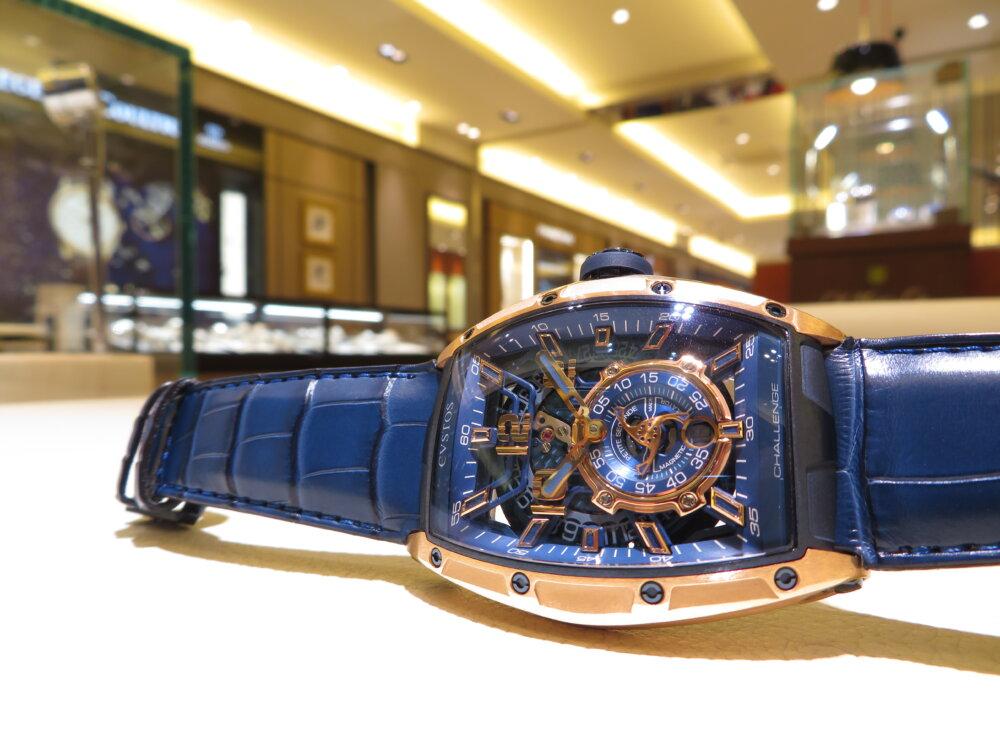 ウィンターフェア開催中!CVSTOS(クストス)爽やかなブルーと上品さのゴールドを併せ持つ高級機械式時計!!「チャレンジ ジェットライナーⅡ P-S オートマティック」!-CVSTOS -IMG_2753