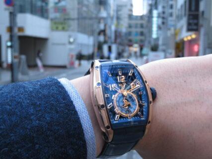 ウィンターフェア開催中!CVSTOS(クストス)爽やかなブルーと上品さのゴールドを併せ持つ高級機械式時計!!「チャレンジ ジェットライナーⅡ P-S オートマティック」!