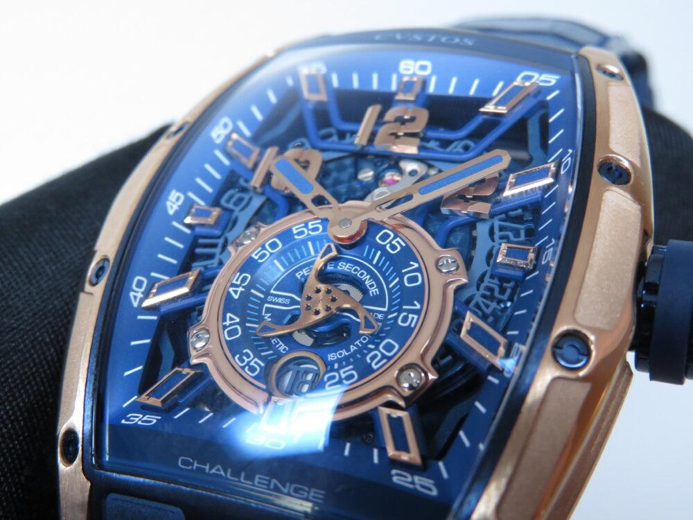 ウィンターフェア開催中!CVSTOS(クストス)爽やかなブルーと上品さのゴールドを併せ持つ高級機械式時計!!「チャレンジ ジェットライナーⅡ P-S オートマティック」!-CVSTOS -IMG_2758