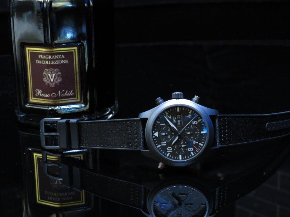 ウィンターフェア開催中!オールブラックの新素材!エリートのための高級機械式時計!!IWCパイロット・ウォッチ・ダブルクロノグラフ・トップガン・セラタニウム!!-IWC -IMG_2900