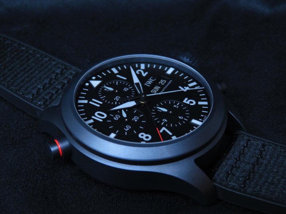 IWCフェア開始!!1/18~2/2まで 独自の素材とオールブラックの上品さ際立つ、パイロット・ウォッチ・ダブルクロノグラフ・トップガン・セラタニウム!!-IWC -IMG_2905