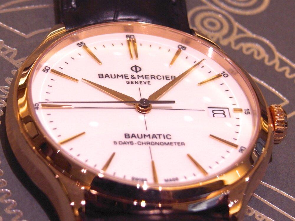 ボーマティックに新しくレッドゴールドケースを採用した「クリフトン ボーマティック COSC」が登場。-BAUME&MERCIER -R1174749