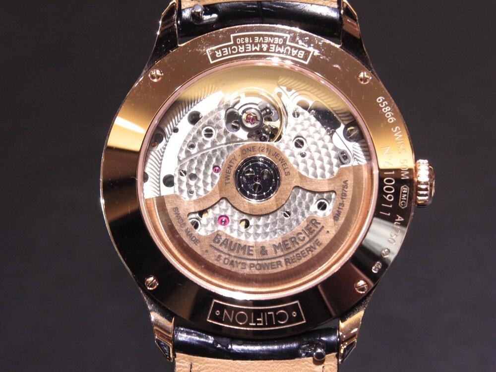 ボーマティックに新しくレッドゴールドケースを採用した「クリフトン ボーマティック COSC」が登場。-BAUME&MERCIER -R1174759