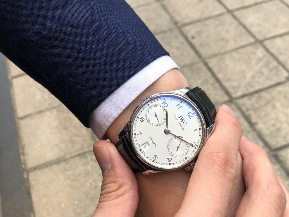 紳士の魅力を引き出す腕時計、IWC「ポルトギーゼ・オートマティック」をご紹介。-IWC -4-3