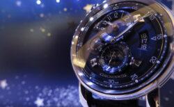 回転する星空がオトコ心をくすぐる! クロノスイス「フライング・レギュレーター ナイト アンド デイ」CH-8763-BLBL