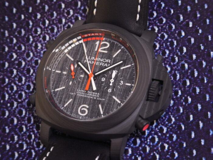 黒と赤のカラーリングがかっこいい!本格レガッタ仕様の、パネライ「ルミノール ルナ・ロッサ レガッタ」PAM01038-PANERAI -R1175706-700x525