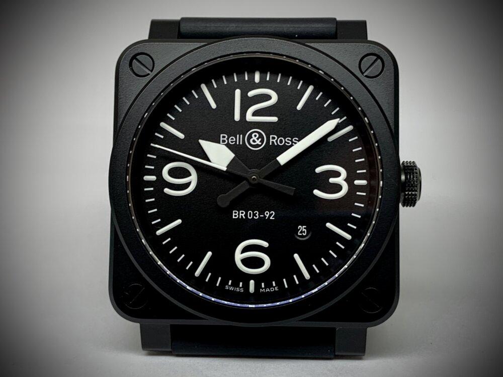 ベル&ロス ブラックマットな質感が上品な BR03 92-BL-CE/SRB-Bell&Ross -IMG_3578