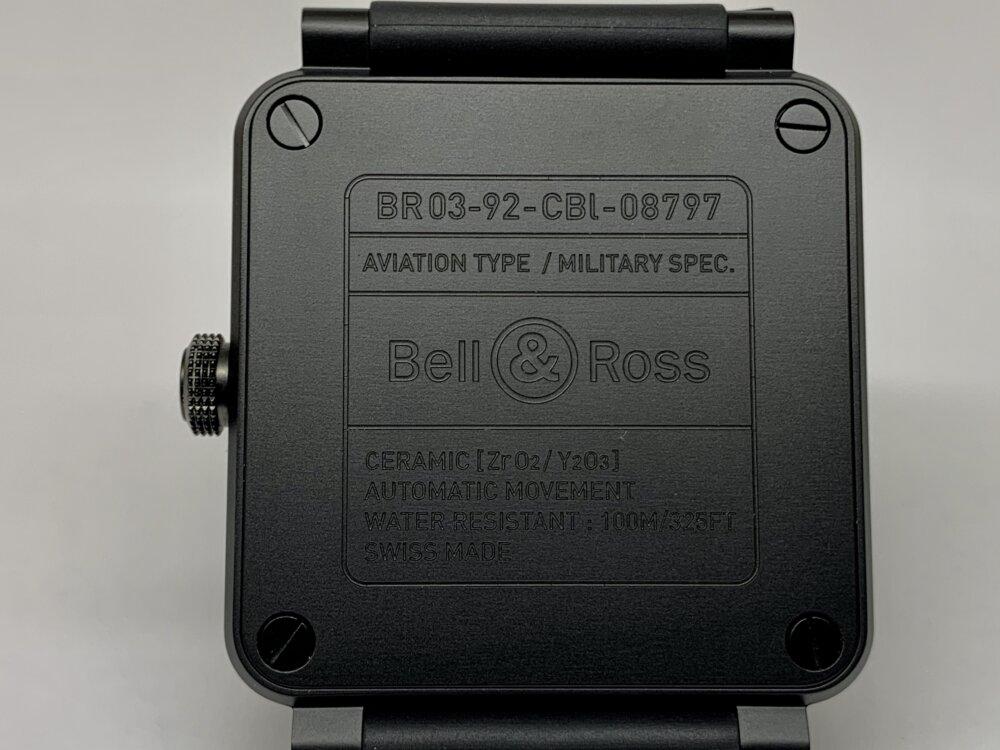 ベル&ロス ブラックマットな質感が上品な BR03 92-BL-CE/SRB-Bell&Ross -IMG_3583