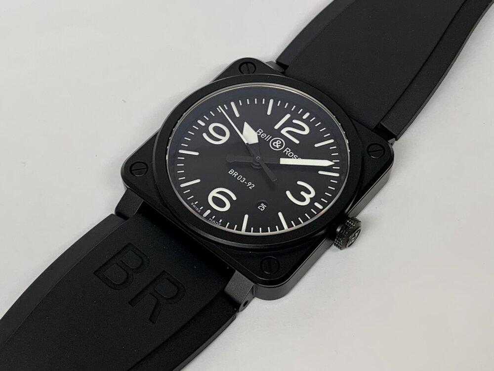 ベル&ロス ブラックマットな質感が上品な BR03 92-BL-CE/SRB-Bell&Ross -IMG_3585