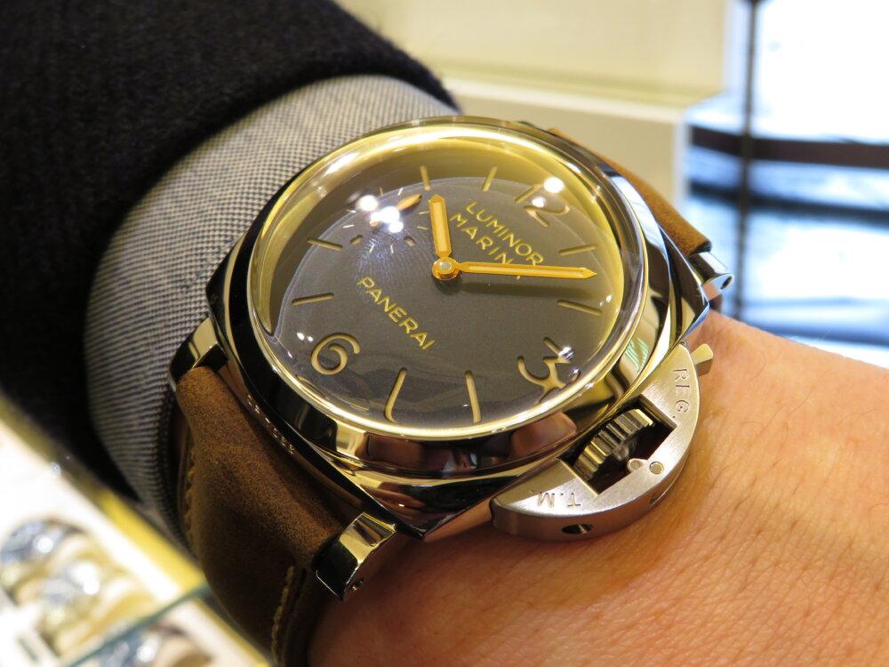 ファッションの必需品として高級時計パネライはいかがでしょうか?ルミノールマリーナ47mm-PANERAI -IMG_9671