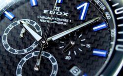 ブルーのインデックスが美しい、エドックスの人気モデル「 クロノオフショア1 クロノグラフ」