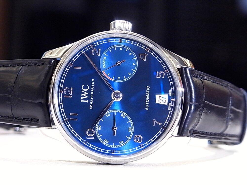 IWC 美しいブルー文字盤を採用した「ポルトギーゼ オートマティック」-IWC -R1168886