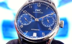IWC 美しいブルー文字盤を採用した「ポルトギーゼ オートマティック」