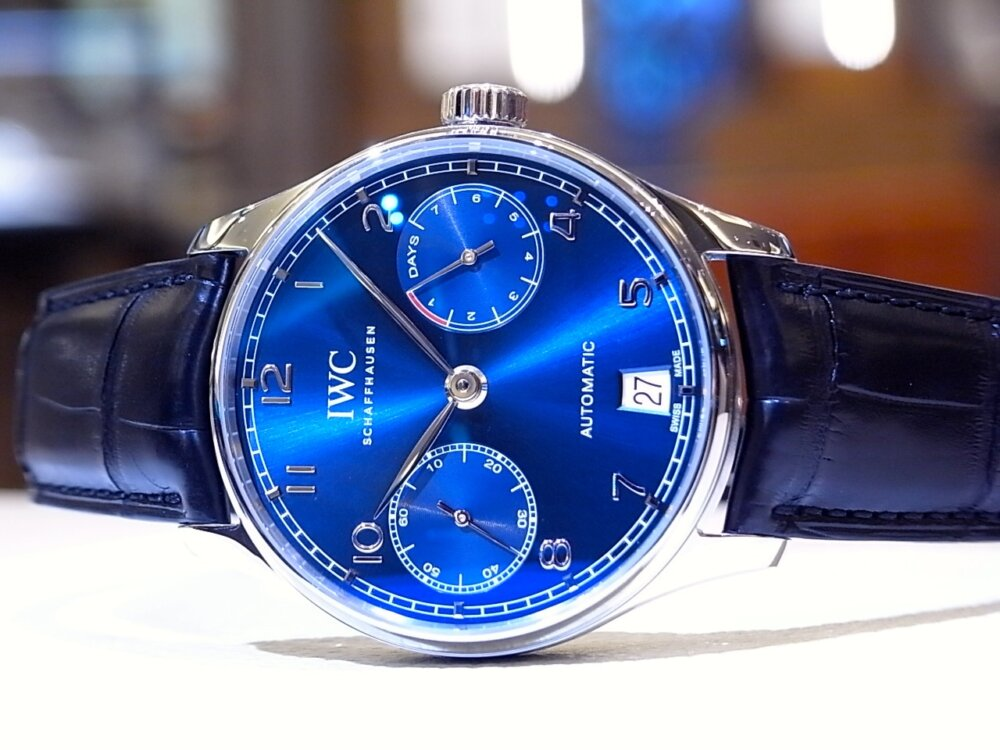 IWC 美しいブルー文字盤を採用した「ポルトギーゼ オートマティック」-IWC -R1168895
