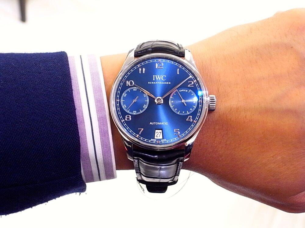 IWC 美しいブルー文字盤を採用した「ポルトギーゼ オートマティック」-IWC -R1168898