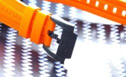 ピンバックルまでカーボン素材にこだわった逸品!オレンジのカラーが映える「クロノファイター スーパーライト カーボン」グラハム