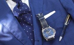ワンランク上のスーツスタイルに。 パネライ ルミノールドゥエGMTパワーリザーブ  PAM00964