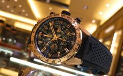 生産終了となったホイヤー01 ゴールド時計で豪華に…「カレラ キャリバー ホイヤー01 クロノグラフ 43mm」
