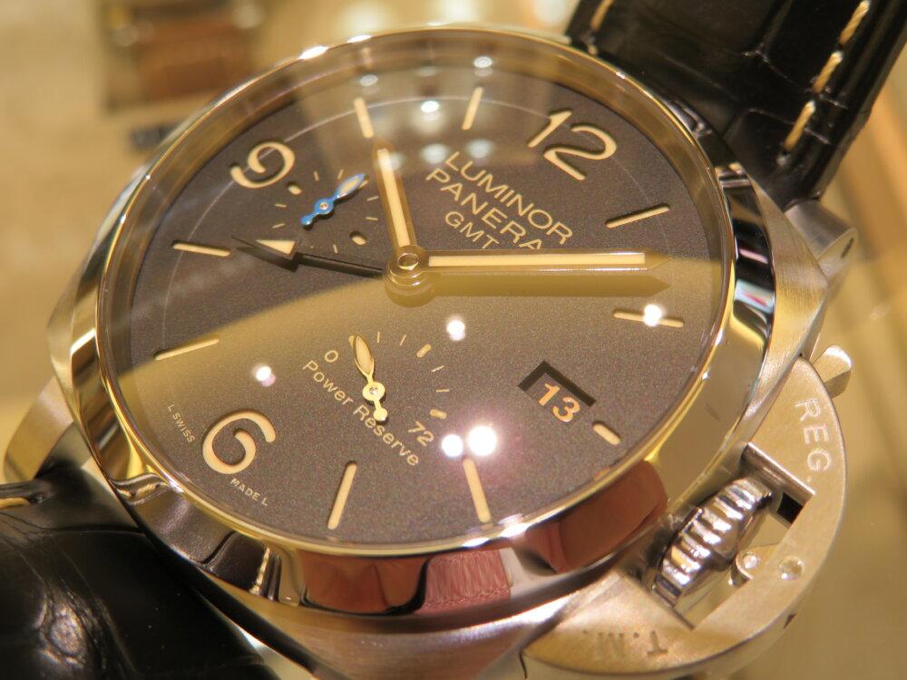 GMT機能搭載、デザインとしても一層カッコイイ ルミノール GMT パワーリザーブ PAM01321-PANERAI -IMG_1706