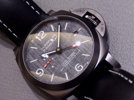 世界限定1036本のGMTモデル! パネライ ルミノール ルナ・ロッサ GMT 品番 PAM01036