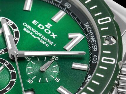 グリーンカラーがカッコいい! エドックス 「クロノオフショア1 クロノグラフ スペシャルエディション」