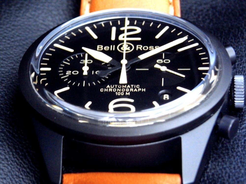 Bell&Ross(ベル&ロス)マットブラックケースにヴィンテージ感漂う、BR126 ヘリテージ-Bell&Ross -R1179646