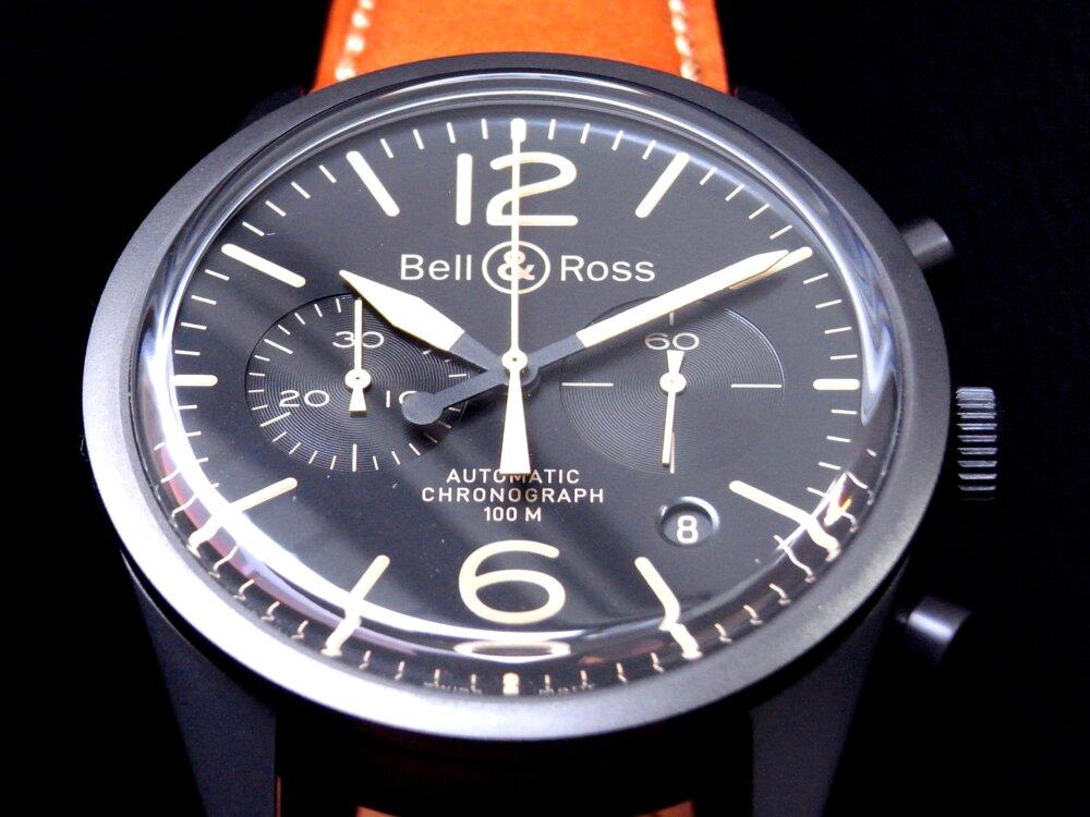 Bell&Ross(ベル&ロス)マットブラックケースにヴィンテージ感漂う、BR126 ヘリテージ-Bell&Ross -R1179650